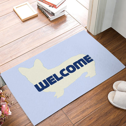 Simple Welcome Greeting Corgi Anti Slip Foot Waterproof Door Mats