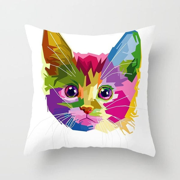 Handmade Colorful Corgi and Friends Pillow Covers