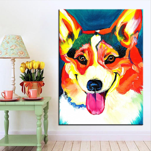 Large Size Oil Painting Corgi