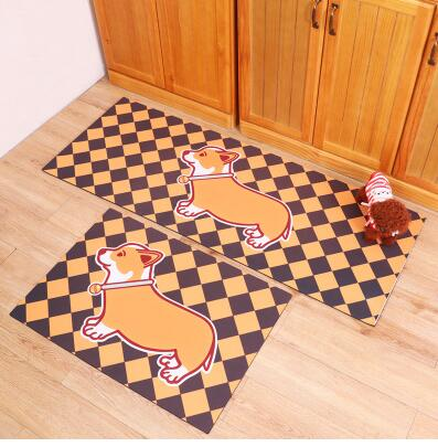 Handmade Corgi Plaid Pattern Rug