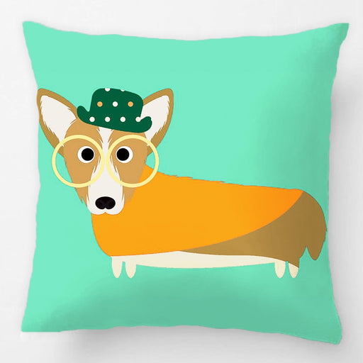 Handmade Christmas Corgi Pillow Cover