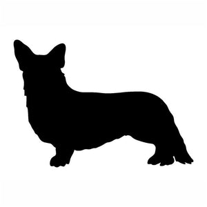 19.5*12.7CM Cardiogram Welsh Corgi Car Stickers
