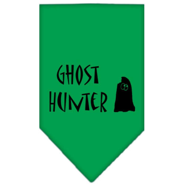 Ghost Hunter Screen Print Bandana Black Large