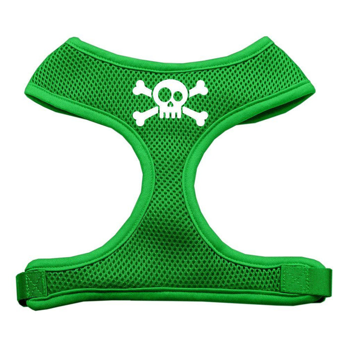 Skull Crossbones Screen Print Soft Mesh Harness
