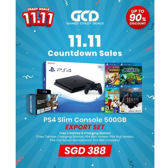 PS4 500GB Slim console Export 11.11 special promo