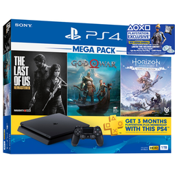 PS4 Slim 1TB Console Mega Pack (15 Months Local Warranty)