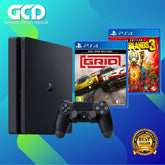 PS4 Slim 1TB Console (Export) + PS4 Borderlands 3 + PS4 Grid Day One Edition