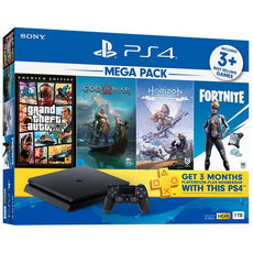 Playstation 4 1TB Slim Mega Pack Local Set With 1 year warranty