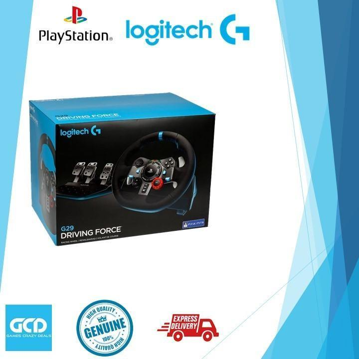 Logitech G29 Driving Force Racing Wheel for PS4/PS3/PC (Option With Shifter)