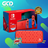 Nintendo Switch Console Mario Red & Blue Special Edition + Carrying Case & 2 Free Games + 1 Year Warranty