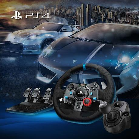 Logitech G29 Driving Force Racing Wheel for PS4/PS3/PC +Shifter