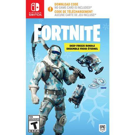 Nintendo Switch Fortnite Deep Freeze Bundle - Download Code (No Game Card Included)