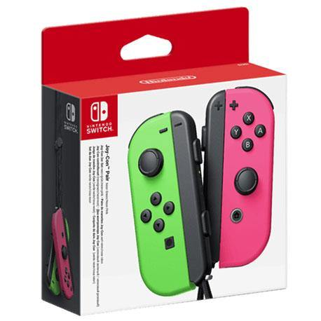 Nintendo Switch Joy Con Controller Pair - Neon Green and Pink
