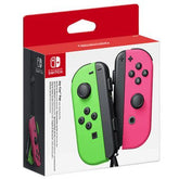 Nintendo Switch Joy Con Controller Pair - Neon Green & Pink