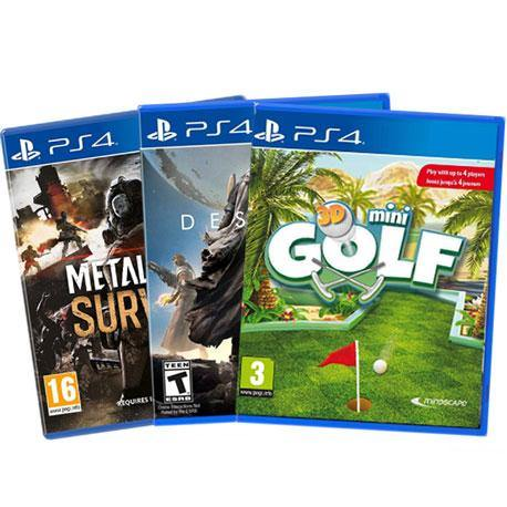 PS4 Metal Gear Survive + PS4 Destiny + PS4 3D Mini Golf