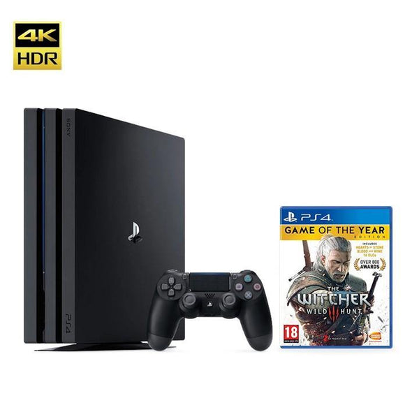 PS4 Pro 1TB Black with 1 Game - Refurbished