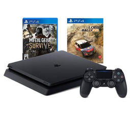 PS4 1TB Slim Console Black Refurbished - Export Set + 2 games