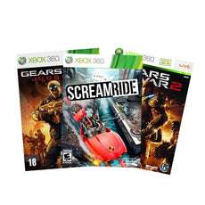 Xbox 360 Gears of War judgement, Xbox 360 Gears of War 2 and Xbox 360 Screamride