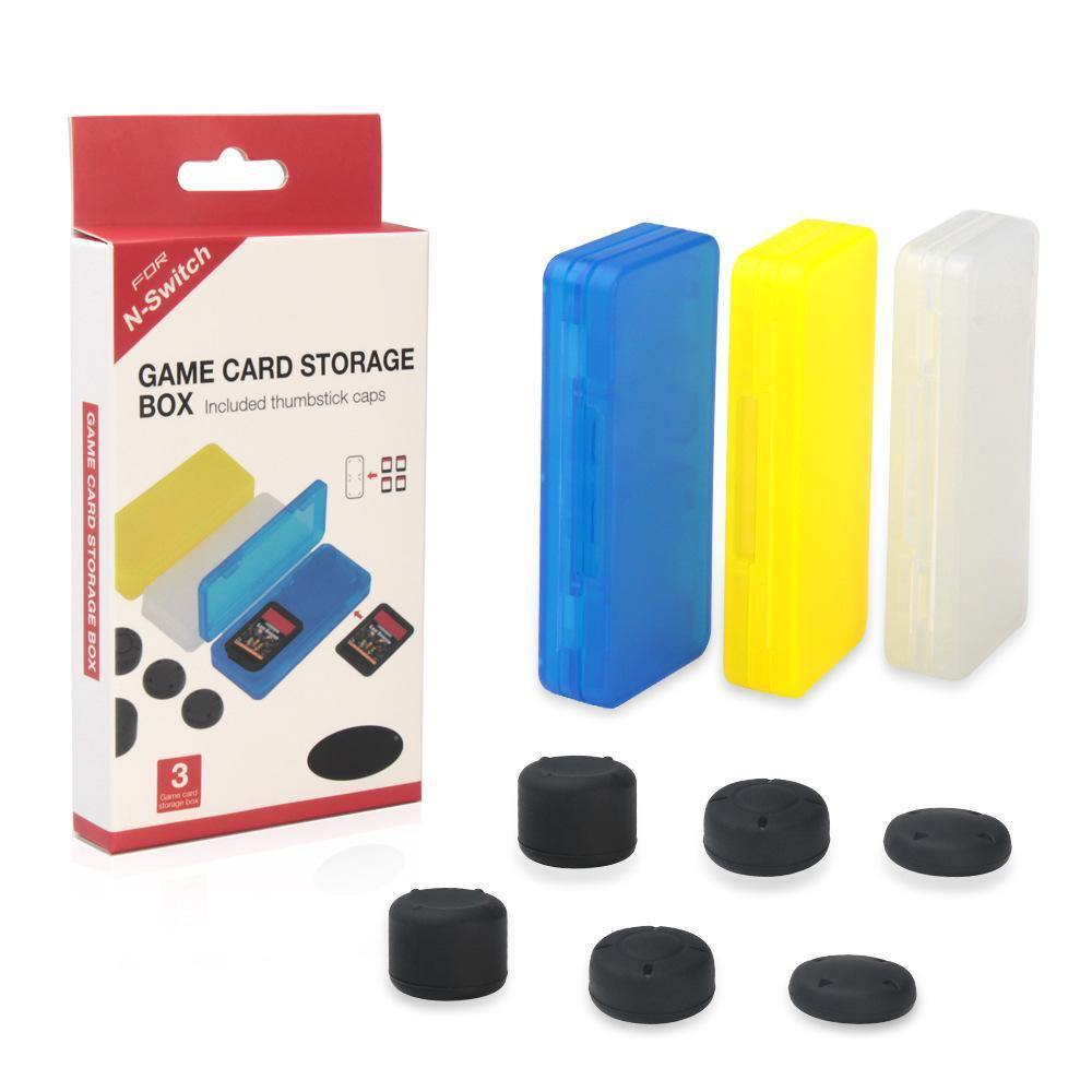 Dobe Game Card Storage Case + Thumbstick Caps for Nintendo Switch