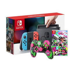 Nintendo Switch Console (Local Set) + Splatoon 2 +  Splatoon 2 Controller - Wired