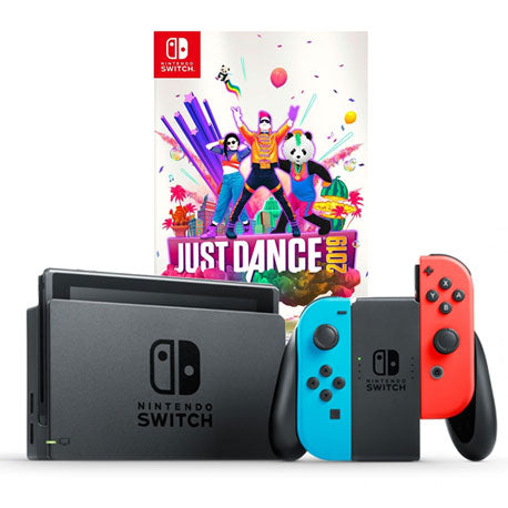 Nintendo Switch Neon Console Local Set + Just Dance 19
