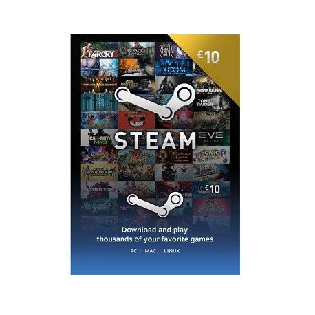 Steam Wallet Card - (10 Pounds)