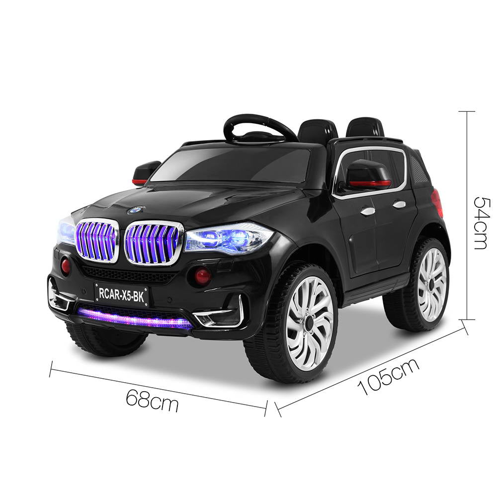 Childs Ride On Car Electric Ute With Remote Music Battery Bmw X5 Inspired Black