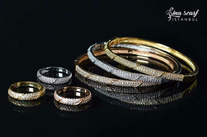 Brazilian Gold Bracelets With Rings 15180109