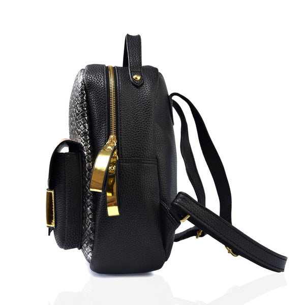 4bcbf1654d6 New Snake PU Leather Women Backpack Female Fashion Rucksack Brand Designer  Ladies Back Bag High Quality
