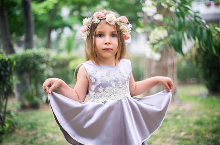 Bridesmaid - attending a wedding with your child blog www.cleybaby.com