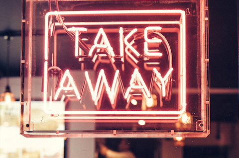 "Neon ""Take Away"" Sign"