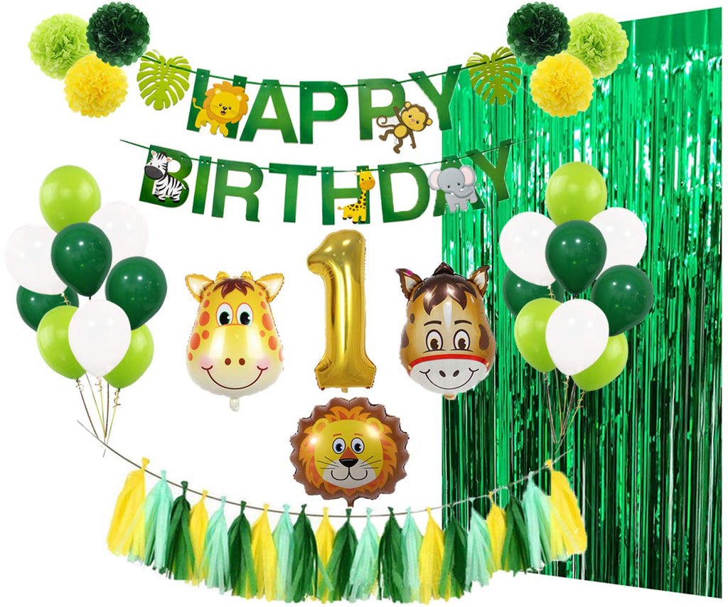 """In The Jungle"" 1st Birthday Party Pack"