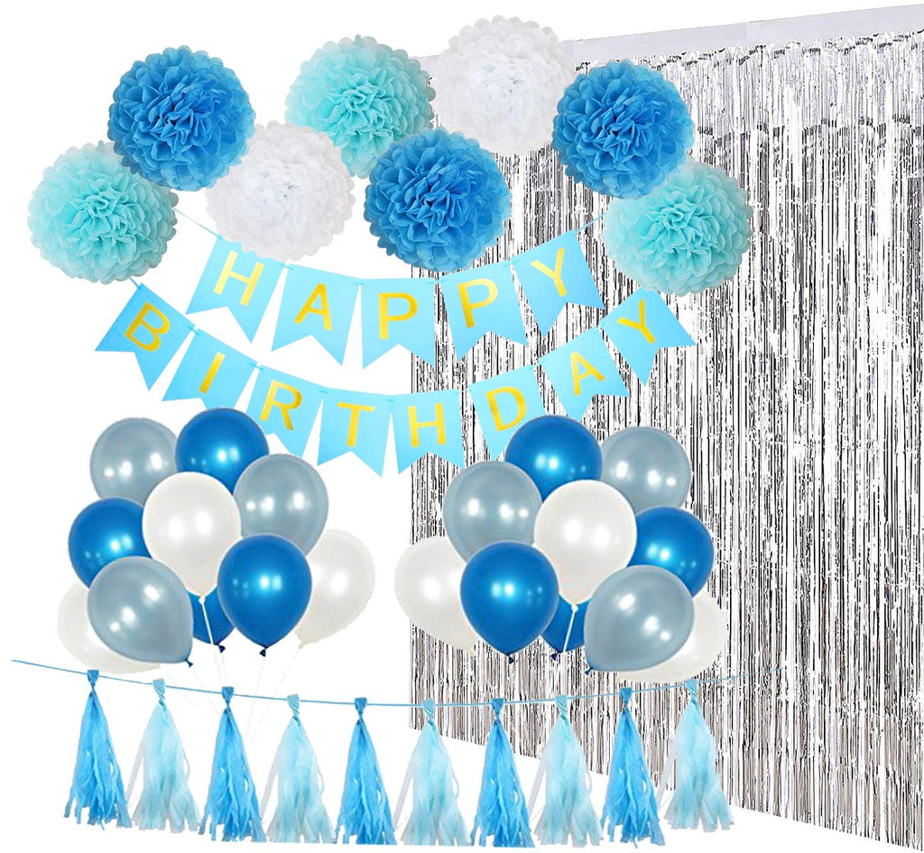 Blue & Silver Birthday Party Pack
