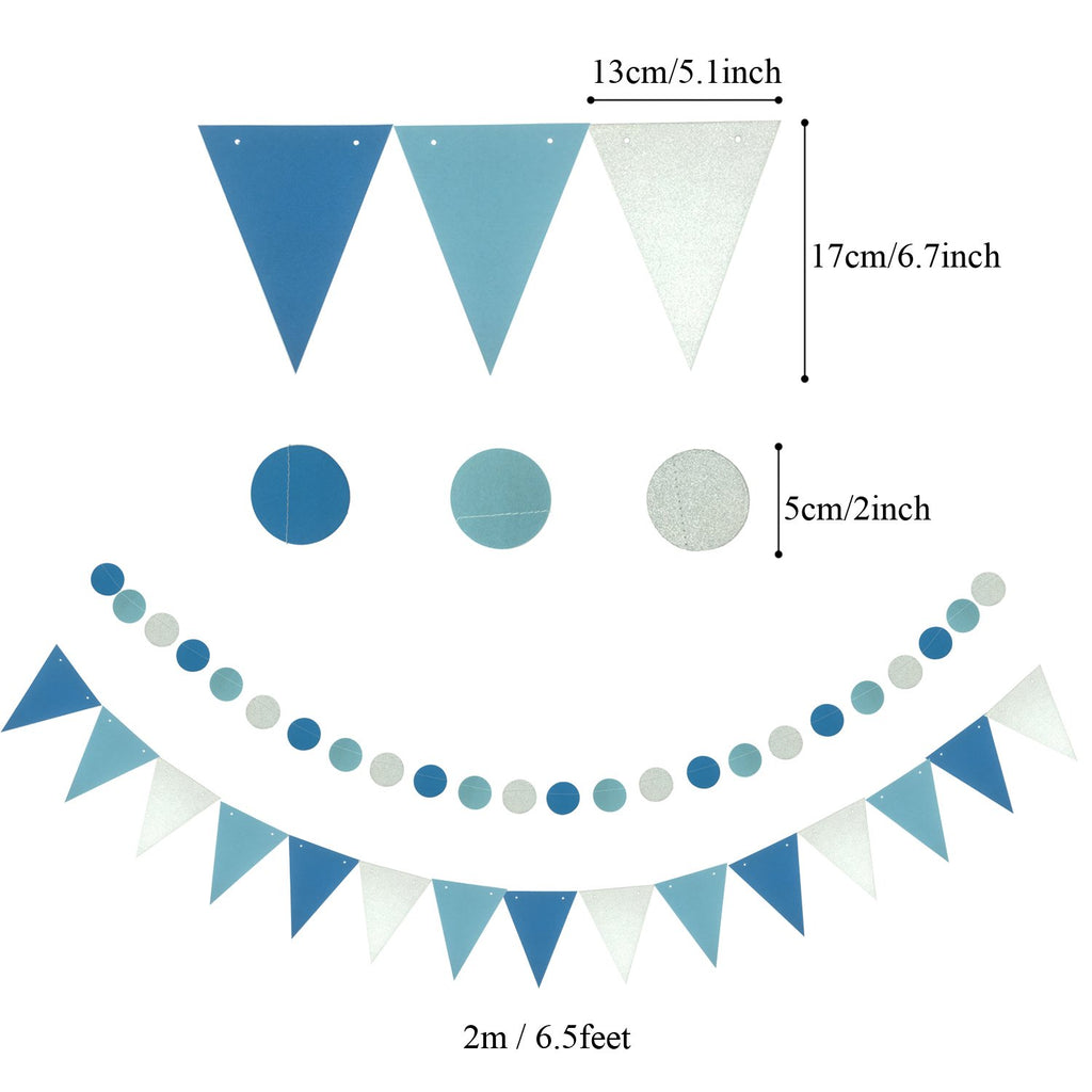 Blue & Teal Birthday Party Decorations Kit