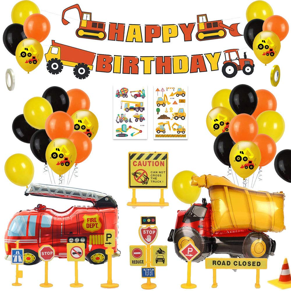 'Digger & Trucks' Construction Site Party Pack