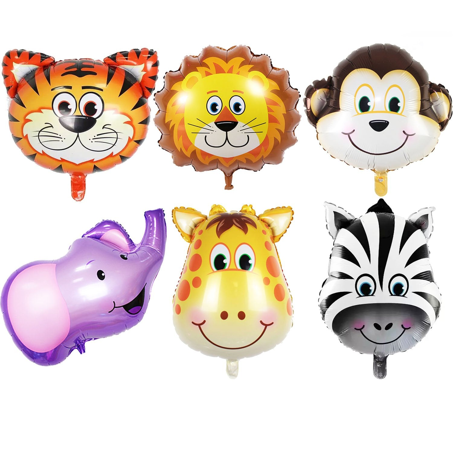 Jungle Animals Head Balloon Bundle