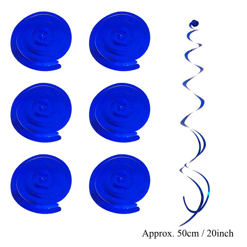 20 Piece Blue Paper Party Fans and Pompom Party Pack