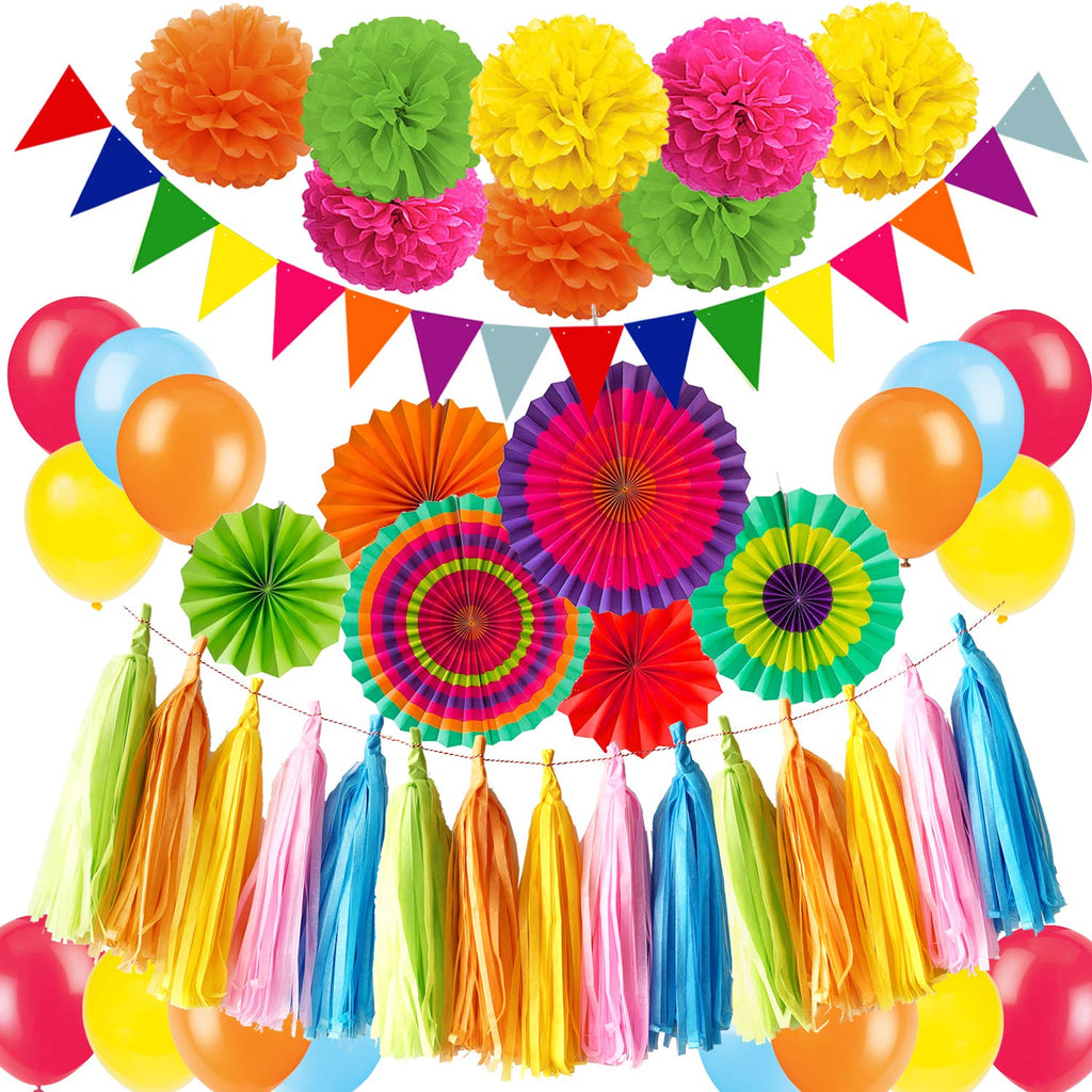 Rainbow Birthday Party Decorations Kit