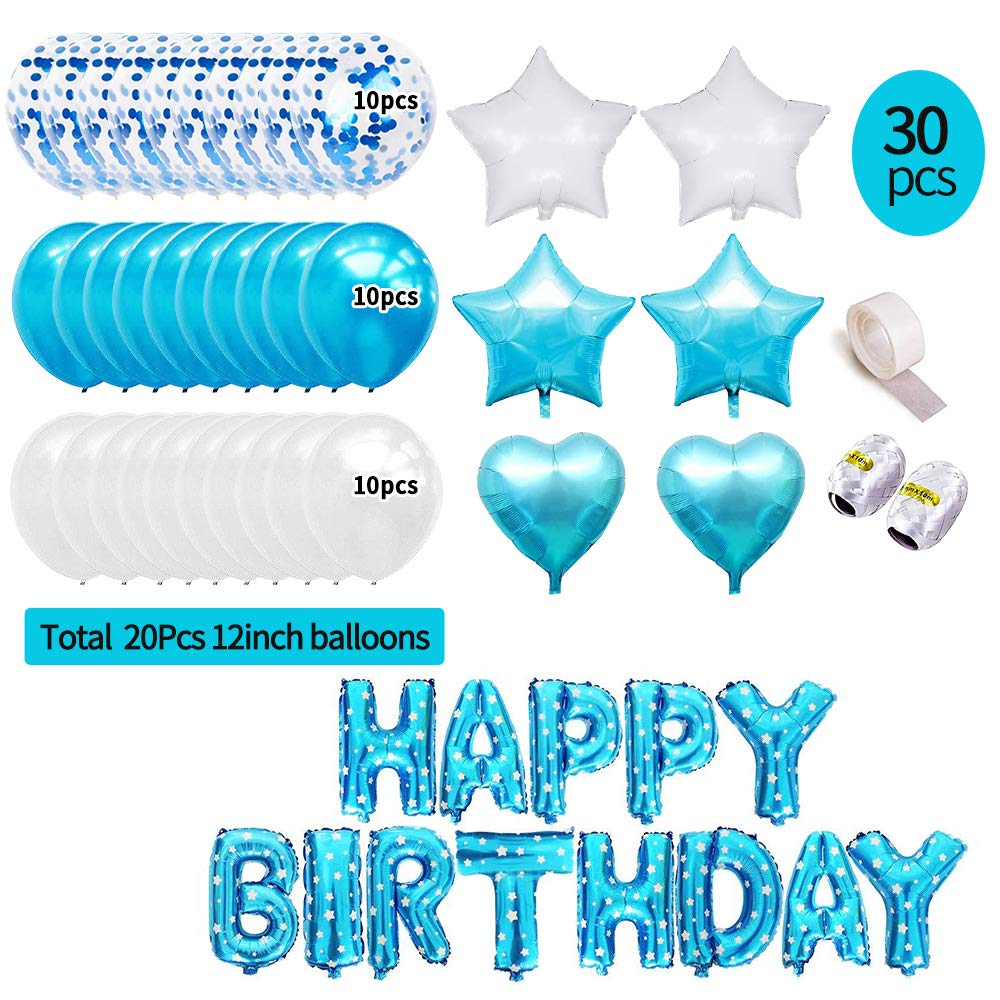 37 Piece HAPPY BIRTHDAY Confetti Party Pack