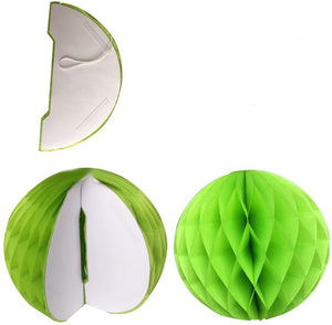 19 Piece Green Paper Party Fans