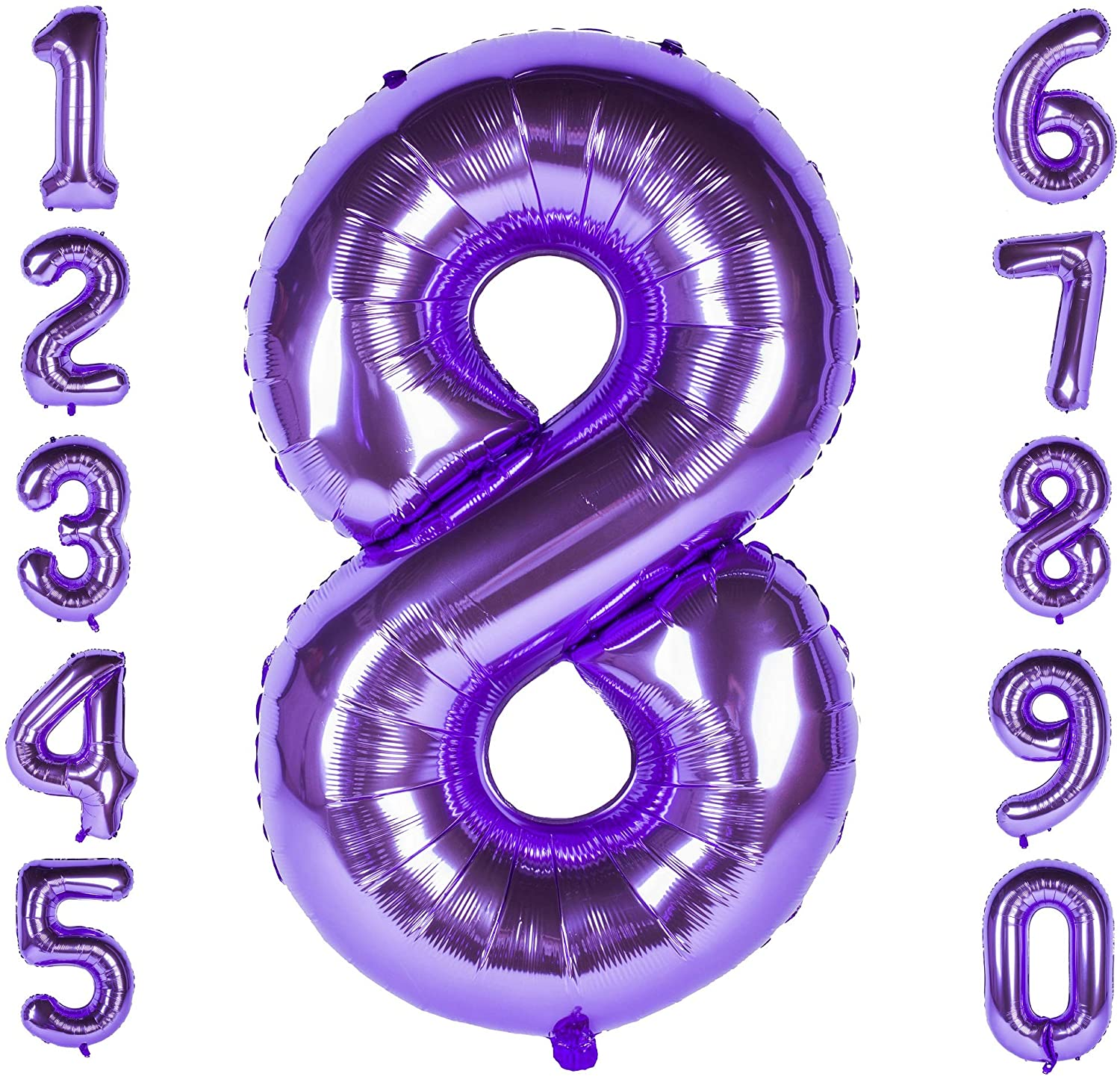 Purple 40inch Number Balloons