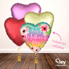 Sunset Heart Mother's Day Balloon Bouquet - Delivered Inflated