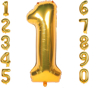 Gold 40inch Number Balloons