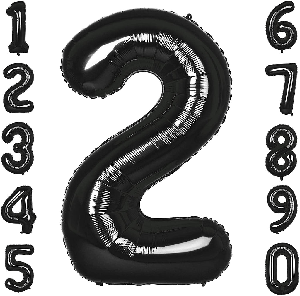 Black 40inch Number Balloons