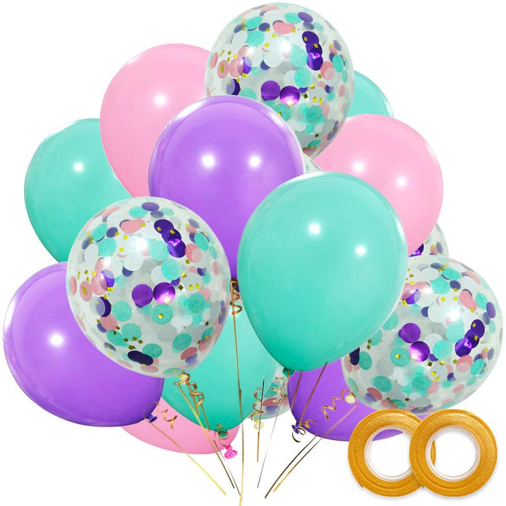 40 Piece Mermaid Style Balloon Bunch