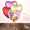 Vibrant Heart Mother's Day Balloon Bouquet - Delivered Inflated