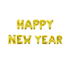 Gold Happy New Year balloon banner