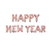 Rose Gold Happy New Year balloon banner