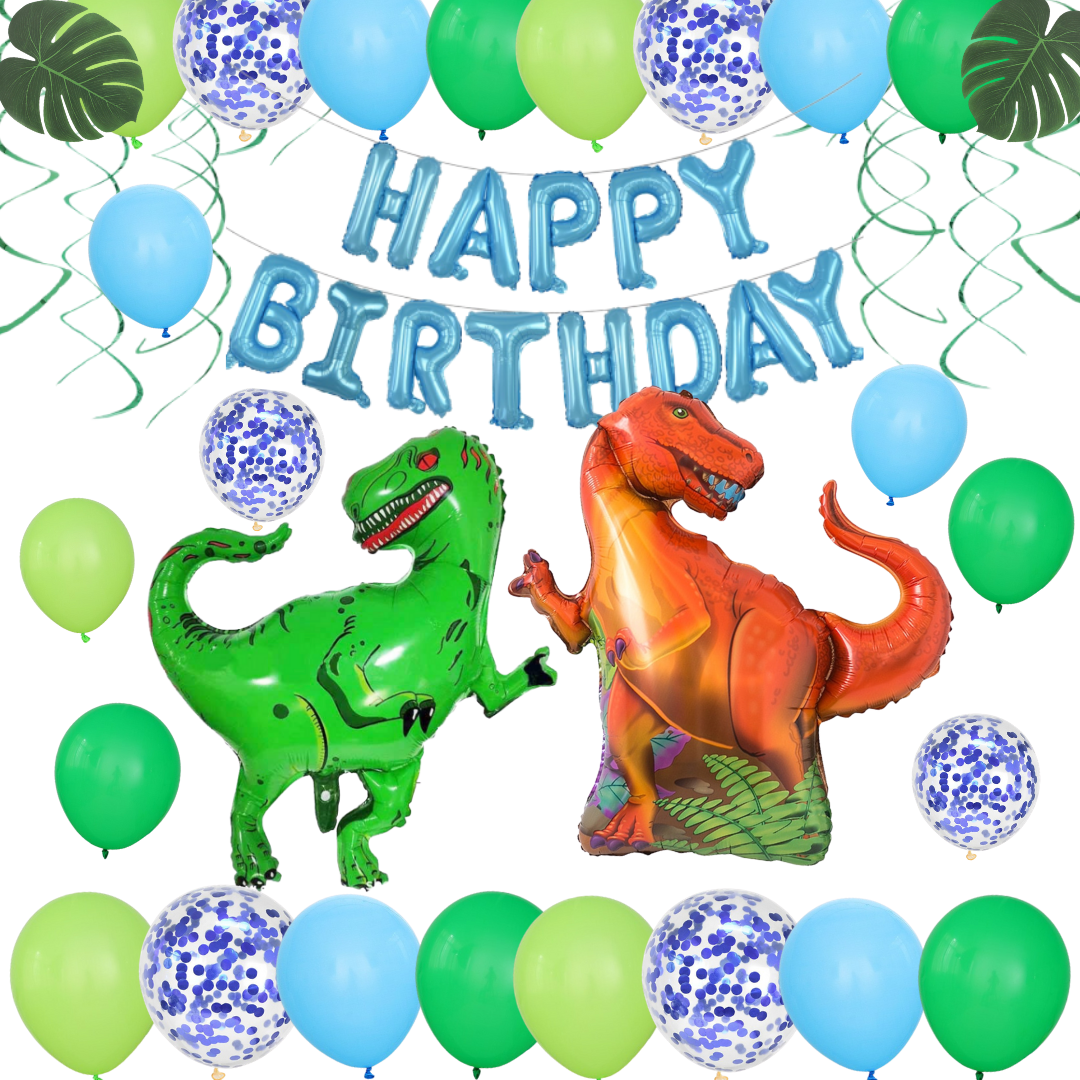 PRE - ORDER Blue & Green Dinosaurs Party Pack