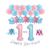 Twins 1st birthday party pack